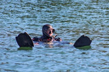 diving with scuba gear in thorne bay
