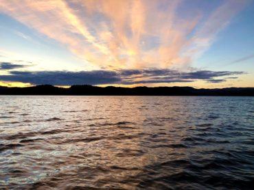 thorne bay sunset